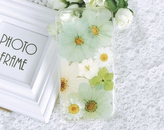 Pressed flowers Silicone cellphone case for iphone 8 iphone 7 case iPhone 10 iPhone X cute flowers