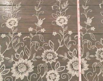 Schiffli Wildflower Embroidered Lace Fabric