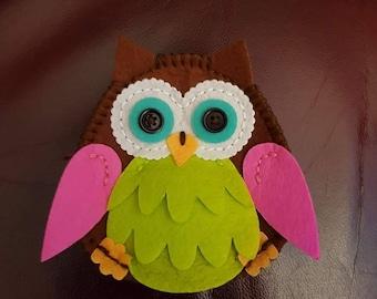 Handmade owl purse
