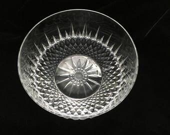 Vintage Arcoroc Diamant Glass Serving Bowl - U.S.A.