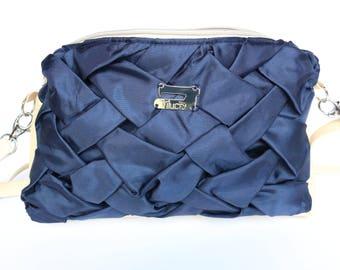 Elegant handbag for special events, dark blue, evening bag, Prom bag, wedding bag, gift for her