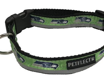 Seattle Seahawks Reflective Dog Collar