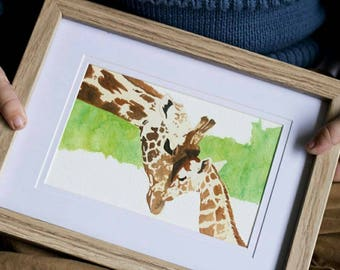Giraffe - Mother and Child Series Giclée Prints