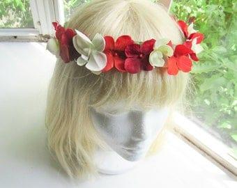 Sunset flower crown