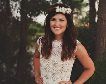 Vintage Cotton Flower Crown