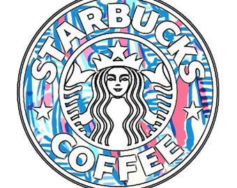 Starbucks Lilly Pulitzer Vinyl Decal Sticker *waterproof*
