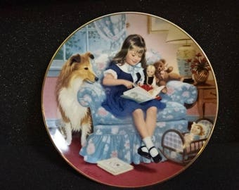 Very Collectable Danbury Mint Collectors Plate/Children of the Week/Sundays Child/Collectable/Vintage/1990s