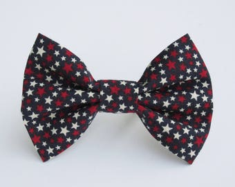 Stars on Blue Bow Tie- All Sizes
