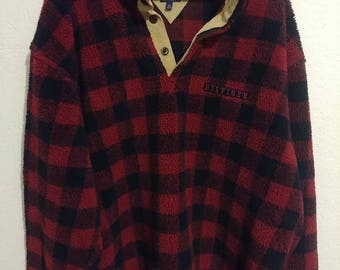 Vintage Tommy Hilfiger Plaid Sweater-Size XL