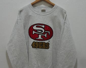 Vintage 90s  49ERS Sf San Francisco Nfl Football Fortyniners Pullover Sweater Sweatshirt Size L