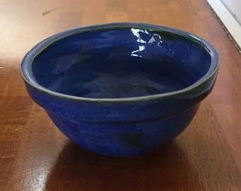 Hand-made, indigo pasta bowl