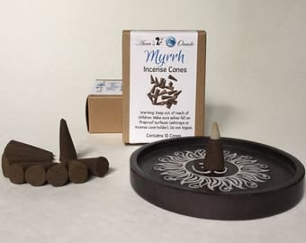Myrrh Incense Cones, Box of 10