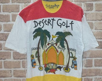 Jean Charles de Castelbajac polo desert golf sweatshirt looney tunes pop art