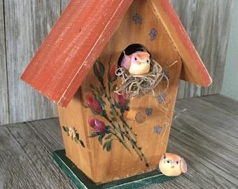 Decorative Peach Birdhouse
