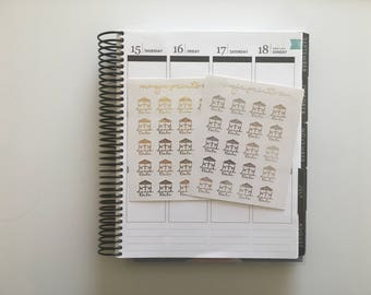 Lunch Date Foil Planner Stickers!