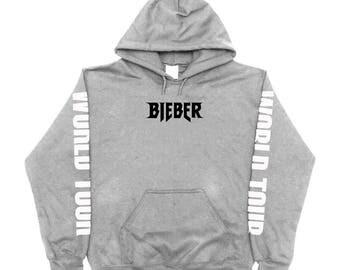 Justin Bieber Purpose Tour World Tour Merch Hoodie Sweatshirt