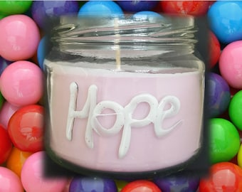 Hope soy candle bubblegum