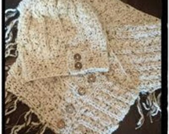 Rustic slouchy and matching infinity scarf