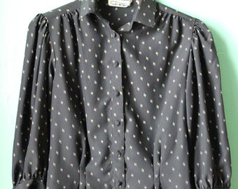 80s Womens Secretary Blouse