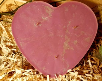 reiki blessed lavendar crown chakra heart candle