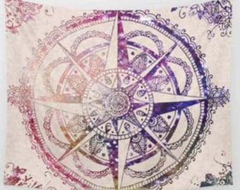 Pink Compass Tapestry