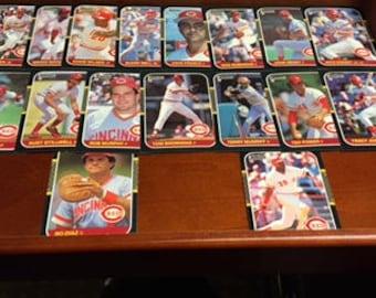 1987 Donruss Baseball Cards: Cincinnati Reds