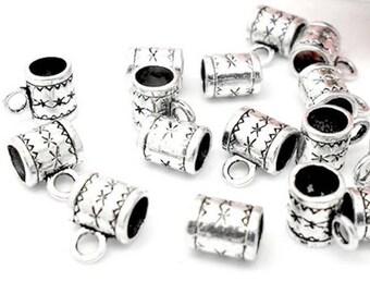 10 jewelry bails Pearl silver Bracelet charm