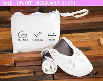 Wedding Shoes, Wedding Slippers, Wedding Flats, Dancing Shoes, Rollable Flats, Foldable Shoes, Foldable Flats, Flat Wedding Shoes, Travel