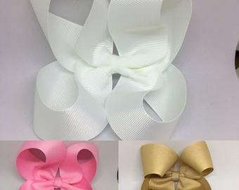 big bow, boutique bow, hair bows for girls, bows for girls, custom bow, big bows, school bows, basic bows, toddler bows, baby bows