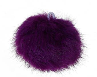 1 x large angora - purple tassel