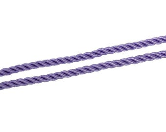 2 m of 5 mm - purple polyester cord