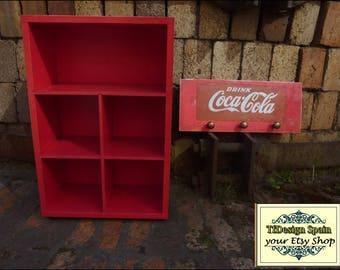 Storage cabinet Cds, Red furniture, sorter, Furniture collections, Mini furniture, Vintage Coca-Cola, Studio Furniture, Office furniture