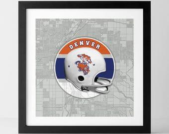 Vintage NFL: Denver Broncos-inspired