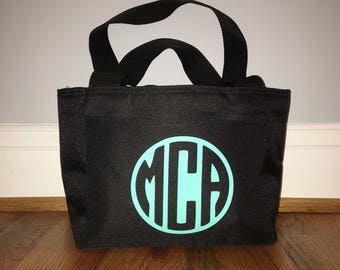 Personalized Monogrammed Insulated Lunch Bag Tote 6 colors