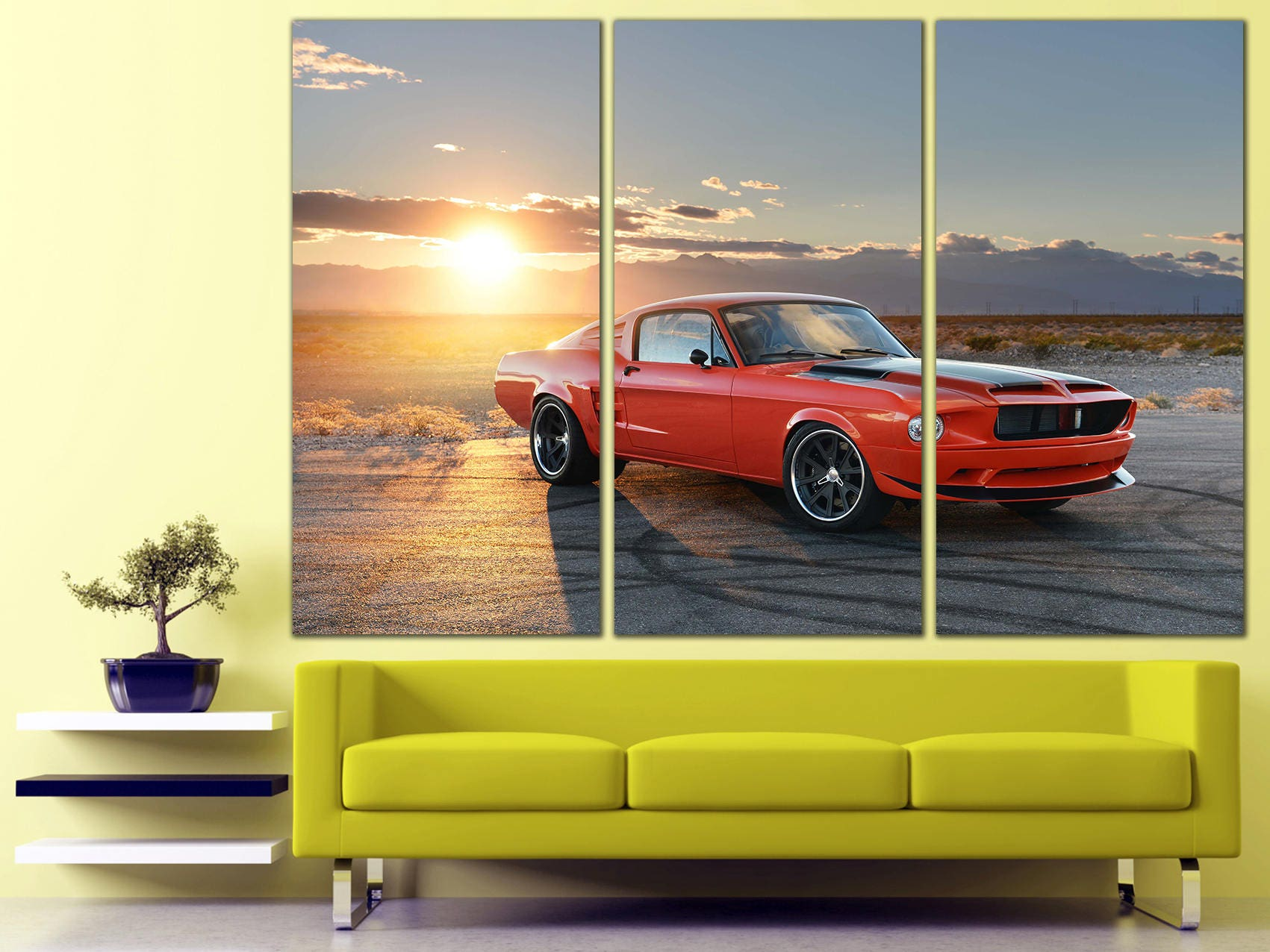 Colorful Automotive Wall Art Collection - The Wall Art Decorations ...