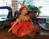 Primitive Doll - Princess Doll - Primitive Decor - OOAK Doll - Handmade Doll - Collectible Doll - Little Princess - Fabric Doll - Faap