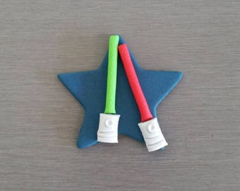 6 x Light Saber Toppers, Star Wars, Star Wars cake decorations, star wars cupcake toppers, Star wars party