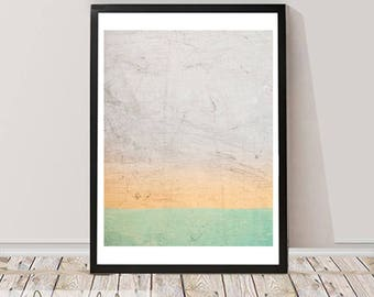 Color Abstract Wall Art, Home Decor, Printable Instant Download, Large Poster, Minimalist Modern Design, Scandinavian Decor
