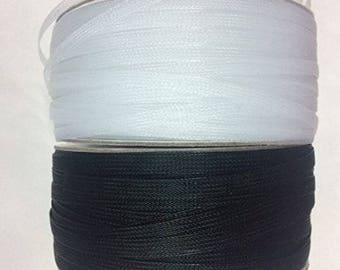 """1/4""""inch Polyester Black Or White Horsehair Braid, Selling Per Roll/250yards"""