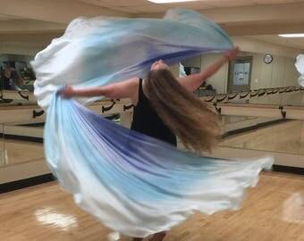 Jack Frost Double Silk Bellydance Veils, Bellydance Costume