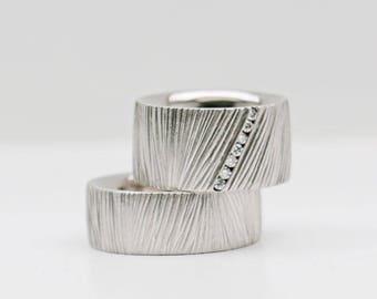 Wedding rings white gold & diamond