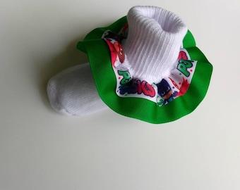 PJ Mask ruffle socks, Character socks, cartoon socks, party socks, baby ruffle socks, birthday ruffle socks, double layer ruffle
