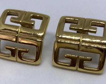 Givenchy 1980s vintage gold tone earrings for pierced ears