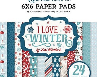24 papers 15.2 x 15.2 cm ECHO PARK I LOVE WINTER