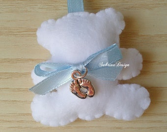 Teddy bear favor, feet favor, baptism favors, baby shower feet, feet charm, baby shower Teddy bear, first birthday, animals favors