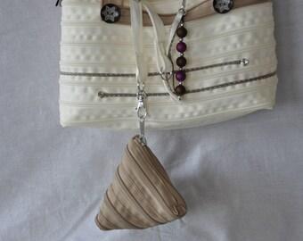 two-tone closure handbag and purses