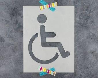 Handicap Stencil - Reusable DIY Craft Stencils for Handicap Signs and Handicap Parking