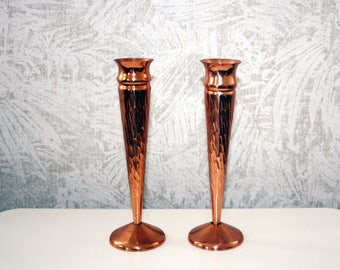 Kupfer Vase, Kerzenleuchter, 60s, mid century copper