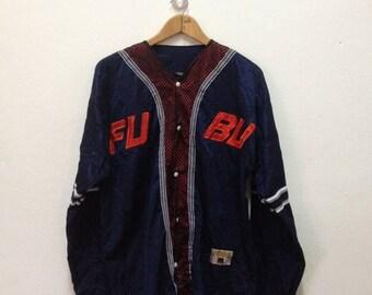ON SALE 20% vintage jersey of 90s hip-hop clothing, buttoned FUBU t-shirt 1990s hip hop, Og, gangsta rap, size L