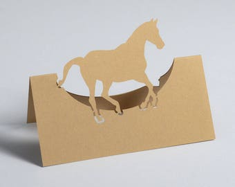 Horse Name Place Cards / Horse Seating Cards / Horse Escort Cards / Pony Place Cards / Equestrian Place Cards (Pack of 10)